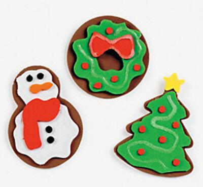 Sugar Cookie Magnet Craft Kit Kids Christmas Tree Wreath Snowman ABCraft
