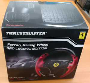 NEW Thrustmaster Ferrari Racing Wheel Red Legend Edition PC/PS3