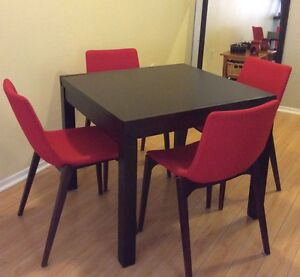DINING TABLE and CHAIRS - Bouclair and Ashley