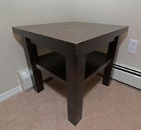 Solid Wood End Table Nightstand