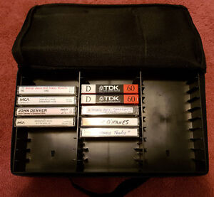 Cassette Case + 22 Tapes