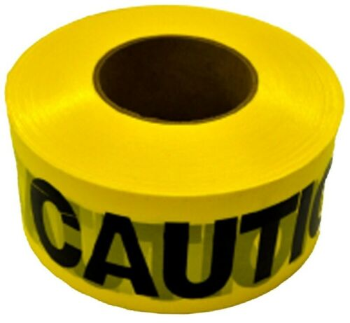 """YELLOW CAUTION TAPE BARRICADE SAFETY TAPE 3""""X1000"""