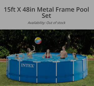 15' diameter Intex swimming pool