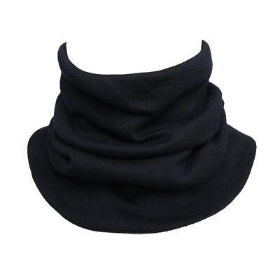 hochwertiger kleiner Herren Loop Schal schwarz Rundschal Schlauchschal 919