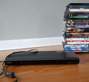 SONY 1080P DVD Player DVP-NS708H And a Bunch of DVDs
