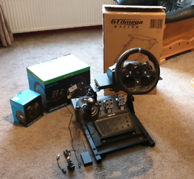 Logitech G920 Driving Force Steering Wheel, Shifter & Stand.