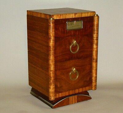 Unique ART DECO Nightstand Cabinet Pullman  Ashtray Rohde Era Skyscraper detail