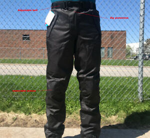Black Ash Motorcycle Riding armoured pants cordura textile
