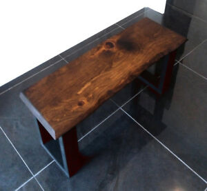 Live Edge Bench - Brand New - Solid Wood