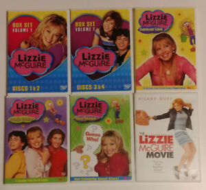 Lizzie McGuire 6 children's DVD's and 4 paperback chapter books