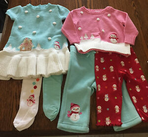 Gymboree baby girl Christmas outfits