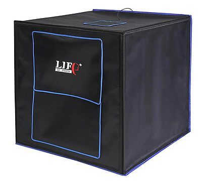 LED Mini-Studio CUBE 70 Fotostudio-in-a-Box Lichtbox Lichtzelt Foto-Lichtwürfel ()