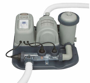 Clear Salt Water Swimming Pool Chlorine Generator System Pumps Filters Cleaners Ebay
