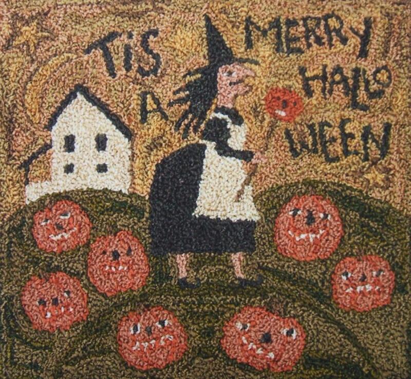 Merry Halloween PN126 Punchneedle Punch Needle Embroidery Teresa Kogut Pattern