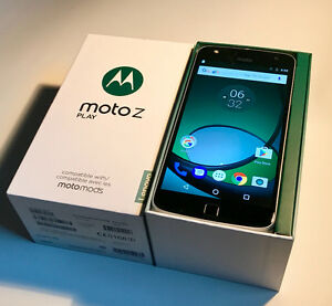 Unlocked Motorola Moto Z Play in Excellent Condition + Speaker