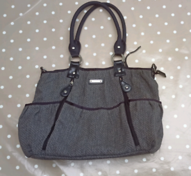 Lovely tweed Storksak Olivia baby changing bag