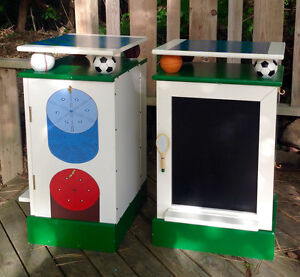 Unique and Very Cool Sports Themed End Tables