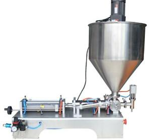 110V 1000ml Paste Filling Machine with Vertical Mixing Hopper 160433