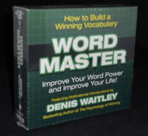 New 9 CD Word Master Dennis Waitley Nightingale Conant (Vocabulary)