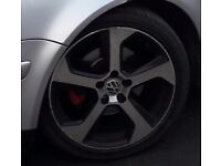 "2017 golf gti alloy wheels 17"" few scuffs 5 x 110"