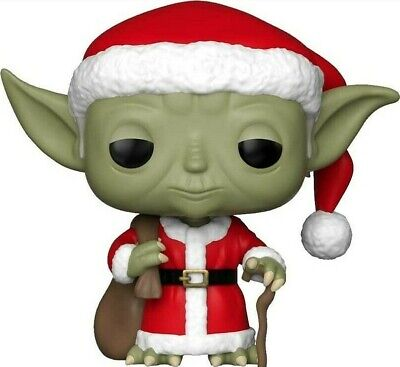 NEW Funko Pop! Holiday #277 Star Wars Yoda Christmas Figure With Soft Protector
