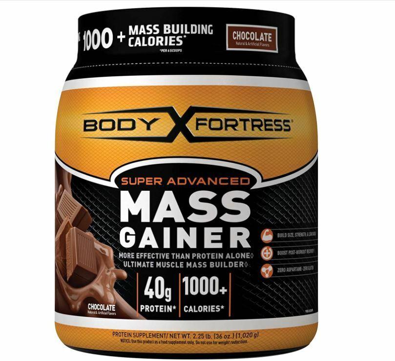 Body Fortress New Super Advancec Mass Gainer, Chocolate, 2.2