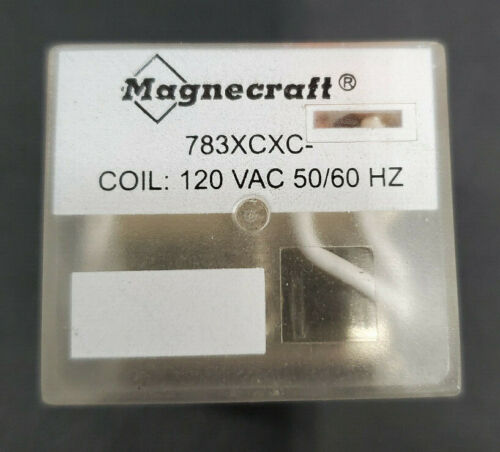 Magnecraft 783XCXC Plug In Miniature Relay 120 VAC 50/60HZ
