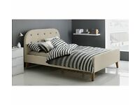 Brand New Ashby Double Bed Frame 4ft 6 - Natural