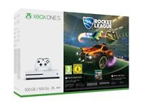 Xbox One S Rocket League Blast-Off Bundle (500GB) & FIFA 18 Game COMPLETELY BRAND NEW UNOPEN BOX