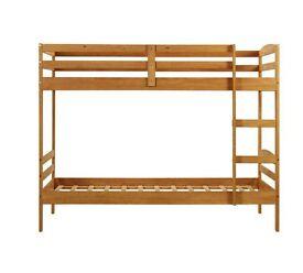 HOME Josie Single Bunk Bed Frame - Natural.