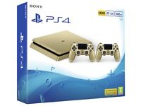 PS4 gold with 2 controllers brand new