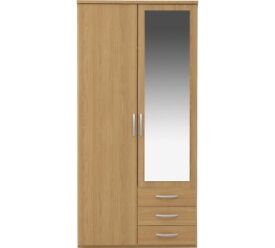 Collection Tilbury 2 Door 2 Drawer Wardrobe - Oak Effect