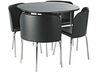Compact Black Table and Chairs