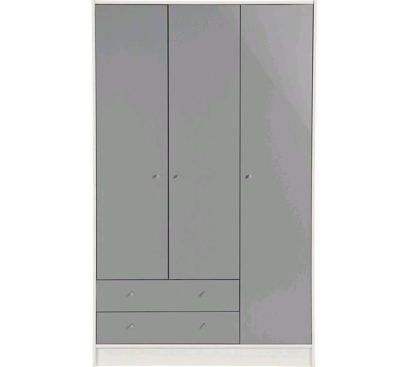 buy popular cdf1d fee22 Argos Grey gloss Triple Wardrobe with two drawers | in Kirkcaldy, Fife |  Gumtree