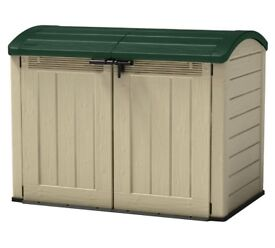 BRAND NEW FLAT-PACKED HUGE KETER STORE-IT-OUT ULTRA GARDEN BIKE WHEELIE BIN STORAGE PLASTIC SHED BOX