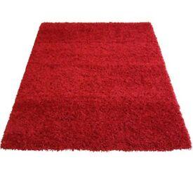 Argos Jazz shaggy red rug carpet