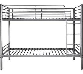 Used Samuel Single Bunk Bed Frame - Silver