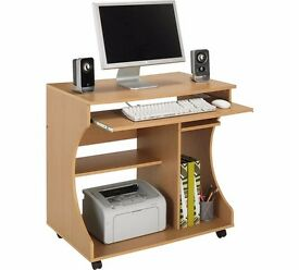 Computer desk with sliding draw