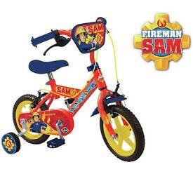 Brand New Fireman Sam 12 Inch Bike