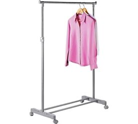 Adjustable chrome plated clothes rail - grey. £20 for all 4.