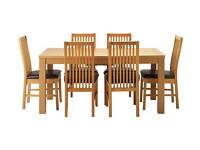 Extendable Dining Table and 6 Chairs, Excellent condition, Oak