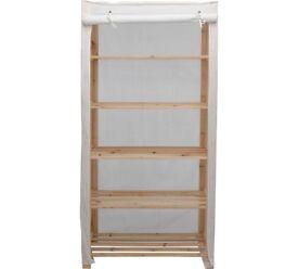 Shelf unit - Polycotton and Wood shelving - Cream