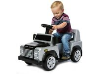 Silver Licensed Land Rover Defender, Suspension, Kids' Electric Ride On Car new