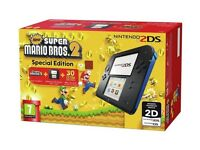 2ds with Mario 2 still sealed in box