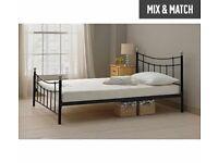 Black frame bed