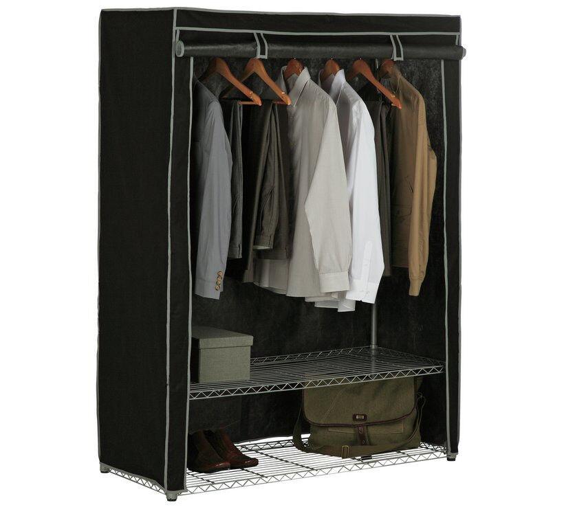 HOME Double Heavy Duty Wardrobe - Black