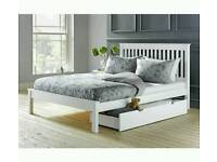 £85 - Aspley double bed frame with drawer - delivery available