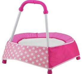 REDUCED Chad Valley Indoor Toddler Trampoline - Pink