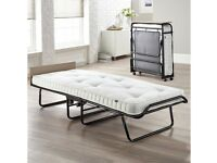 Single high quality folding bed with mattress.