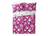 Amelie Pink Butterfly Bedding Set - Double